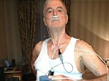 Gadget test: John Cleese posted a picture on Twitter of himself getting ready to sleep with a machine attached that tests for sleep apnea