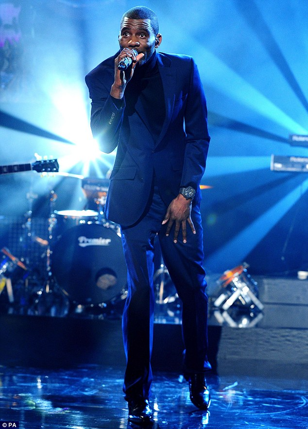 Saving the day: Rapper Wretch 32, pictured on the Graham Norton Show earlier this month, managed to step in to replace Prof Green