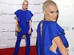 Not everyone looks great... Jessie J arrives at the Glamour Awards in blue smock while VV Brown opts for baggy socks and sandals