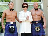 What a welcome! Sharon Osbourne was greeted by shirtless, kilt-wearing Scotsman as she arrived for the first day of X Factor auditions in Glasgow, Scotland, on Tuesday
