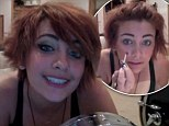 'Yes I'm pink in the face, yes I have acne': Paris Jackson pokes fun at herself in candid video make-up tutorial