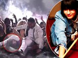 Injured: Khyati Shah was struck by the singer as he attempted to jump over a pit of people