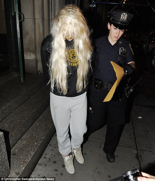 Serious allegations: Amanda Bynes has alleged she was 'sexually harassed' by a male New York police officer on prior to her Tuesday night