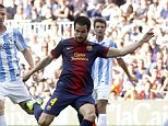Staying put: Cesc Fabregas says he does not want to leave Barcelona