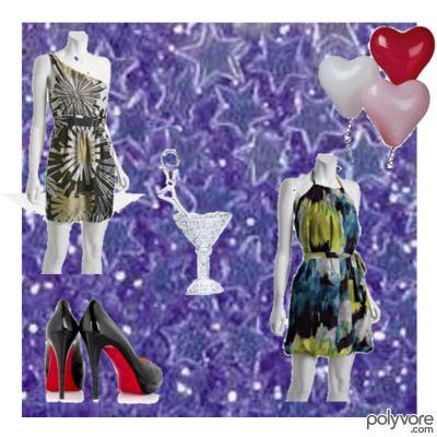 Evening dress for hourglass figures