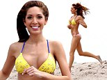 Farrah-watch! Pneumatic Teen Mom star Abraham spills out of mismatched bikini as she runs down Miami beach