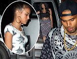 Chris Brown forgets Rihanna partying in a club until 5am with a bus full of beautiful girls