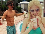 Holiday time: Pixie Lott and Oliver Cheshire in Miami