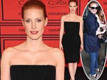 From drab to fab! Jessica Chastain is red hot at fashion awards... hours after looking dowdy at airport