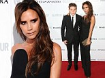 Who needs David? Victoria Beckham arrives on the arm of her son Brooklyn at Glamour Women Of The Year Awards