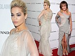 50 shades of style: Rita Ora and Amanda Holden sports stone-coloured gowns as they lead stars on the red carpet at Glamour Women Of The Year Awards