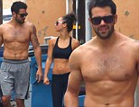 Abs galore! Jesse Metcalfe and fiancée Cara Santana parade chiseled bodies after gym workout