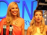 From the stage to the TV screen: Former pageant stats Brook Roberts (left) and Tara Gray (right) turn home shopping network hosts in a new-fly-on-the-wall