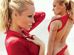 Still red hot at 45: Pamela Anderson gets back into her Baywatch colour as she displays perky body in Vogue Brazil