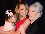Home is where the heart is: 'So much love.. with my mommy and my daughter,' Mariah Carey tweeted on Tuesday with a snap of the three