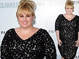 Rebel Wilson is a class act in curve-hugging black frock at Glamour Women Of The Year Awards