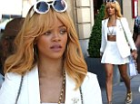 Anyone for tennis? Rihanna looks dressed for the French Open as she shops in Paris
