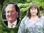Frozen out: Liz Beattie and, inset, her late husband Keith