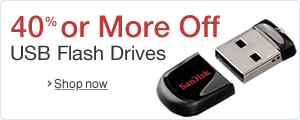 40% or More Off USB Flash Drives