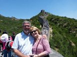 Arthur and Hazel Bell visiting China's fabled Wall
