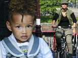 Alicia Keys and her son Egypt out in Amsterdam on Thursday