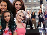 Ready to take over: X Factor winners Little Mix kick off their American domination with a performance on Good Morning America