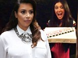 Special delivery: Kim Kardashian, who pleaded for privacy on Thursday, later posted a Keek video taken at her home. It showed her best friend Brittny Gastineau delivering Krispy Kremes