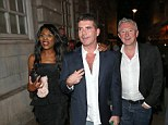 Top team: Simon Cowell, Louis Walsh & Sinitta leaving LouLou's Private Members Club