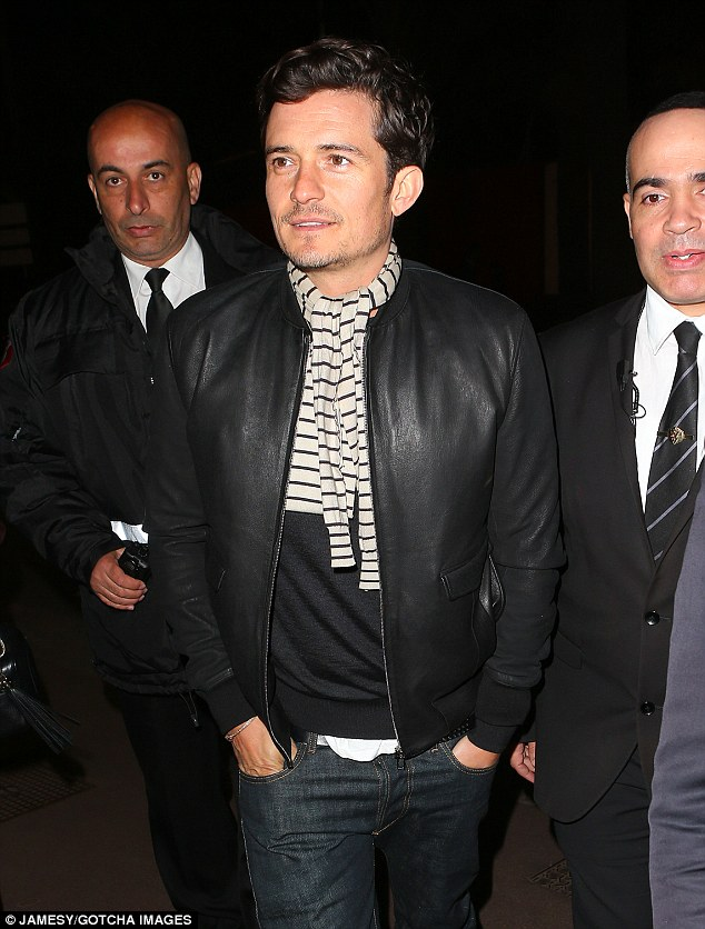 Bonjour! Orlando Bloom enjoyed a little pre-premiere meal with his Zulu co-star Forest Whitaker at the Zplage Beach Restaurant in Cannes Saturday