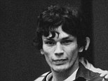 Richard Ramirez, center, known as the Night Stalker, is pictured at his murder trial in 1985