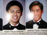 Oops: Three high school students included sexually suggestive quotes with their yearbook photographs - but the school's staff failed to spot them before the books went to print