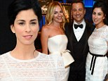 Just like old times! Sarah Silverman rubs elbows with ex Jimmy Kimmel and his fiancee at event