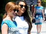 A gleeful lunch date: Naya Rivera and Dianna Agron don matching horn-rimmed sunglasses as they meet up at hippy hangout