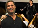 Promotional jet-setter! Brad Pitt hits four cities in one day to promote his new zombie epic World War Z