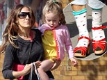 Socks in the city! Sarah Jessica Parker starts a new trend in footwear during mother-daughter stroll