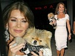 It's a dog's life! Lisa Vanderpump's dapper pooch Giggy waves goodbye after night out in Hollywood