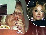 A mother's agony: Debbie Rowe looked strained as she left the hospital on Thursday after visiting her daughter Paris in an LA hospital after her failed suicide attempt