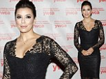 Winning awards and hearts: Eva Longoria is honored with an award for her work as a women's rights activist... one day after being spotted on a romantic day-date