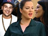 'We get him sick on fast food!' Kim and Khloe devise weight loss plan for brother Rob on Keeping Up With The Kardashians