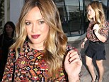 Ladies' night! Hilary Duff flaunts her slimmed-down figure on a rare night out with the girls