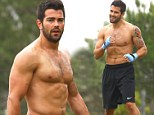 Feast your eyes on this! Shirtless Jesse Metcalfe shows off his ripped six-pack abs during boxing workout at the park