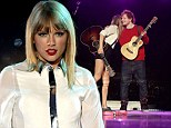 Taylor Swift shows off her long legs in tiny shorts as she's joined on stage by Ed Sheeran at the Summertime Ball