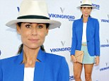 Minnie Driver lives up to her name as she parades her long limbs in tiny blue skirt at charity event