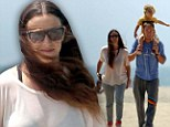 How Ironic! Alanis Morissette goes on family outing to the beach during chilly day in Los Angeles