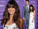 Lea Michele looks angelic in a white floor-length gown next to boyfriend Cory Monteith at the 12th Annual Chrysalis Butterfly Ball