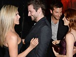 Ladies man Bradley Cooper turns on the charm as he flirts with two of Hollywood's most sought after ladies Jennifer Aniston and Amy Adams