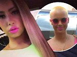 'Candy Yum Yum ;-)': Amber Rose revealed her new long locks on Instagram on Saturday