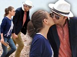 Ashton Kutcher and Mila Kunis steal a kiss after boat ride with Princess Beatrice and Dave Clark in St Tropez