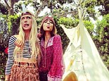 Culturally insensitive? Nicole Richie posts Instagram snap clad in a feather headband in front of teepee