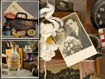 A cardboard storage container for Eleanor G. contained a pair of perfectly-preserved curling irons and a sewing kit. Perfume in a hand-blown glass bottle reveals that she was a woman of means when she was committed to the hospital.